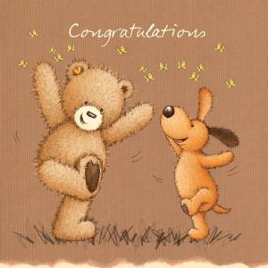Congratulations Bear Celebrating